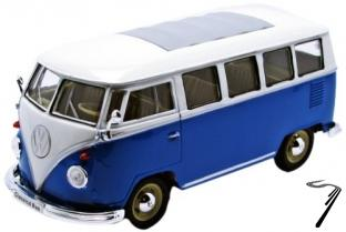 Volkswagen . microbus bleu/blanc 1/24