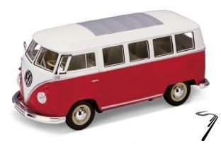 Volkswagen . bus rouge/blanc 1/24