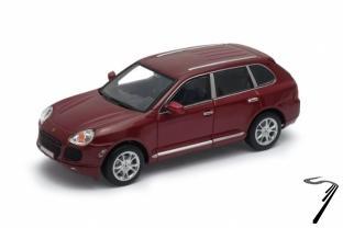 Porsche Cayenne Turbo rouge Turbo rouge foncé 1/24