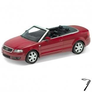 Audi . cabriolet rouge 1/24
