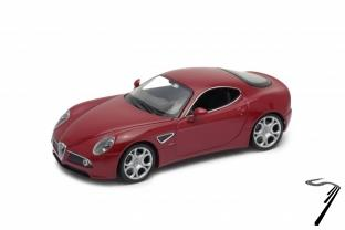 Alfa Romeo . Competizione rouge métallisé 1/24
