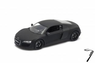 miniature 1 24 audi r8 noir mat welly clic. Black Bedroom Furniture Sets. Home Design Ideas