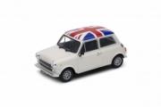 Mini . 1300 blanc / drapeau Anglais sur le toit 1/24