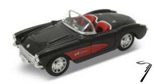 Chevrolet . cabriolet noir/rouge 1/24