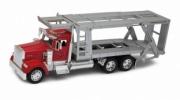Kenworth . rouge/argent, camion de transport de voiture 1/32