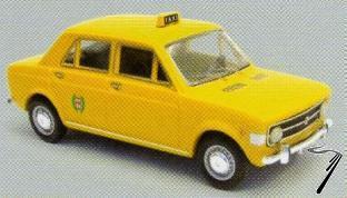 Fiat . Taxi Jaune 1/43