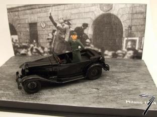 Alfa Romeo . Torpedo Mussolini Milan 1/43