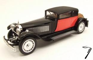 Bugatti . 41 Weymann rouge et noire 1/43