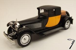 Bugatti . 41 coupé Napoleon jaune et noire 1/43