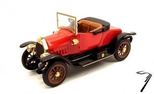 Fiat . 0 spyder rouge 1/43
