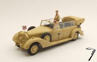 Mercedes . K Africa Korps Rommel (2 figurines) 1/43