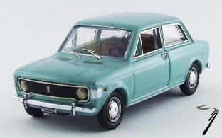 Fiat . 2 portes turquoise 1/43