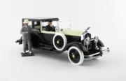 Isotta . Fraschini 8A Torpedo Fleetwood - véhicule de Rodolfo Valentino - avec 2 figurines - édition limité à 100 pièces 1/43