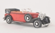 Maybach . DS 8 cabriolet Zeppelin rouge/noir 1/43