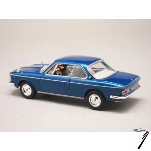 BMW . CS bleu métallisé 1/43