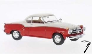 Borgward . rouge/blanc 1/43