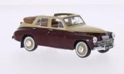 GAZ . M20 cabriolet beige/rouge foncé 1/43