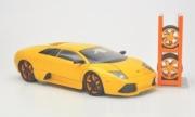 Lamborghini Murcielago LP640 jaune avec 4 roues LP640 jaune avec 4 roues 1/24