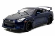 Nissan GTR R35 bleu métallisé/carbone Furious 7 R35 bleu métallisé/carbone Furious 7 1/18