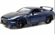 Nissan Skyline GT-R R34 bleu métallisé Furious 7 GT-R R34 bleu métallisé Furious 7 1/24