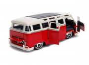 Volkswagen . bus, red/white 1/24