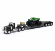 Peterbilt . Lowboy avec Monster truck 1/32