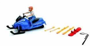 Divers coffret aventure : motoneige avec figurine et accessoires  1/18