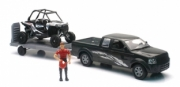 Divers Pick up with Polaris RZR XP1000 and figurine set Pick up with Polaris RZR XP1000 and figurine set 1/18