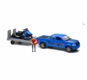 Divers Pick-up avec remorque, figurine et moto neige Polaris switchback Pick-up avec remorque, figurine et moto neige Polaris switchback 1/18