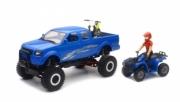 Divers Pick up off road avec moto cross, quad ATV et figurine Pick up off road avec moto cross, quad ATV et figurine 1/20