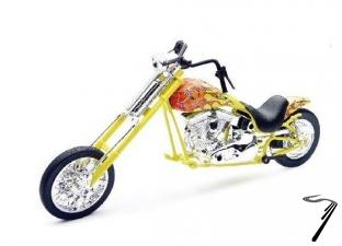 Divers chopper custom (couleurs variables)  1/12