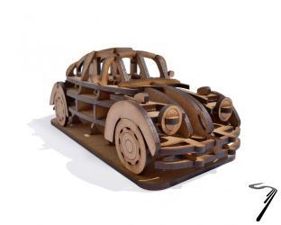 Volkswagen . Kit en bois à assembler - 19.5 x 8 x 7,5 cm - 34 pièces autre