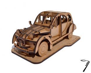 Citroen . Kit en bois à assembler - 18 x 8 x 7,5 cm - 32 pièces autre