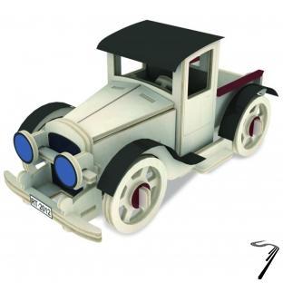 Divers . Voiture classic III  - kit en bois - 49 pièces à assembler - 16.5x10x10 cm - à partir de 6 ans autre