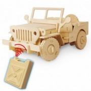 Divers . Jeep radio commande en bois 94 pièces à assembler - à partir de 6 ans autre