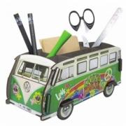 Volkswagen . vert hippie Pot à crayons kit en bois éco certifié - 11 x 22 x 10 cm autre