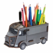 Citroen . gris Pot à crayons kit en bois éco certifié - 10 x 20 x 10 cm autre