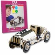 Divers Voiture de course en kit carton à colorier et à monter sans colle - 84 pièces - 34 x 15 x 14 cm  autre