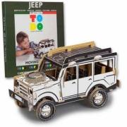 Jeep . Jeep en kit Carton à colorier et à monter sans colle - 100 pièces - 34 x 16 x 18 cm autre
