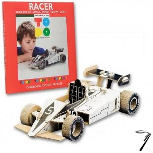 Divers Formule 1 en kit carton à colorier et à monter sans colle - 98 pièces - 35 x 16 x 12 cm  autre